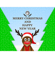 Reindeer in the Christmas forest vector image vector image