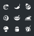 set of tom yam soup icons vector image vector image