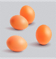 set realistic chickens of egg easter chicken vector image vector image