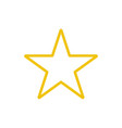 star color icon line yellow rank symbol is vector image
