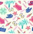 summer vacation in beach style background vector image vector image