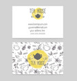 tea shop business card template vector image