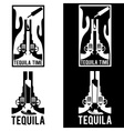tequila with guns and cactus vector image