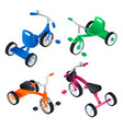 tricycle icon set isometric style vector image