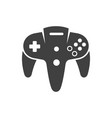 video game joystick icon vector image vector image