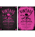Vintage pink poster vector | Price: 1 Credit (USD $1)
