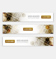 web headers or banners with abstract hexagonal vector image