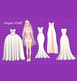 wedding of the paper dolls vector image