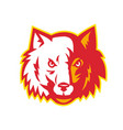 wild dog wolf head front vector image vector image