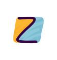 z letter logo in kids paper applique style vector image vector image