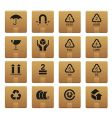 packaging icons vector image
