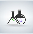 chemical flasks icon vector image