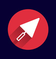 plastering trowel icon button logo symbol vector image