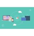 icons of e-commerce symbols internet shopping vector image