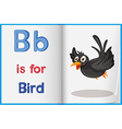 A picture of a bird in a book vector image vector image