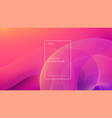 abstract background pink design fluid flow vector image vector image