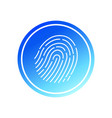abstract thin line touch id logo vector image