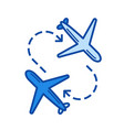 airport transfer line icon vector image