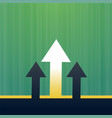 arrow leading and moving upward growth background vector image vector image