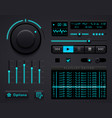 audio player template vector image vector image