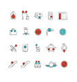 aviation or airport outline icon collection vector image vector image