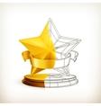 Award half stars vector image vector image