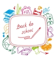Back to school school background of school vector image vector image