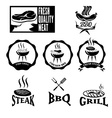 BBQ grill labels collection vector image vector image