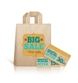 Big carry paper shopping bag vector image