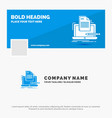blue business logo template for coder coding vector image