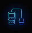 blue car diagnostic scanner icon vector image vector image
