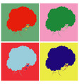 bright female head in pop art style vector image vector image