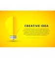 Bulb lamp light idea background vector image vector image