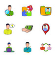 business relationship icons set cartoon style vector image vector image