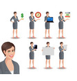 business woman set2 vector image