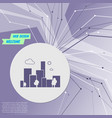 city icon on purple abstract modern background vector image