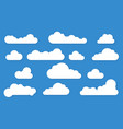 clouds long shadow icons vector image
