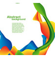 color shapes and lines vector image vector image
