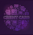 credit card colored round outline vector image vector image