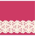 Decorative lacy border vector image vector image