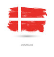 denmark colorful brush strokes painted national vector image vector image
