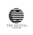 dental logo simple modern black and white vector image