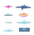 digital music equalizer audio waves design vector image vector image
