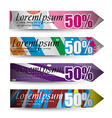 discount banners vector image vector image
