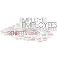employees word cloud concept vector image vector image