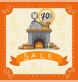 fireplaces sale poster fire place made of vector image