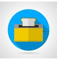 Flat icon for yellow toaster vector image