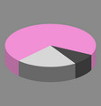 flat icon on theme arabic business pie chart vector image vector image