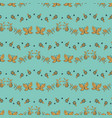 flowes and butterflies seamless pattern vector image vector image