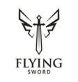 flying sword logo design inspiration vector image vector image